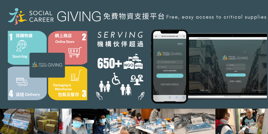 charity e-store network platform delivery masks to needy
