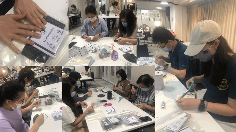 Volunteers making DIY cloth mask - Social Career Blog